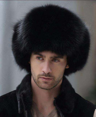 Real Raccoon Fur Lei Feng Cap Black / China Hats