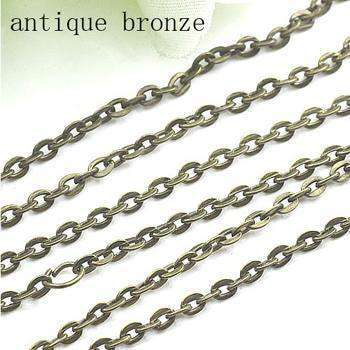 Rhodium/silver/gold/gunmetal/antique Bronze Color Necklace Antique Bronze