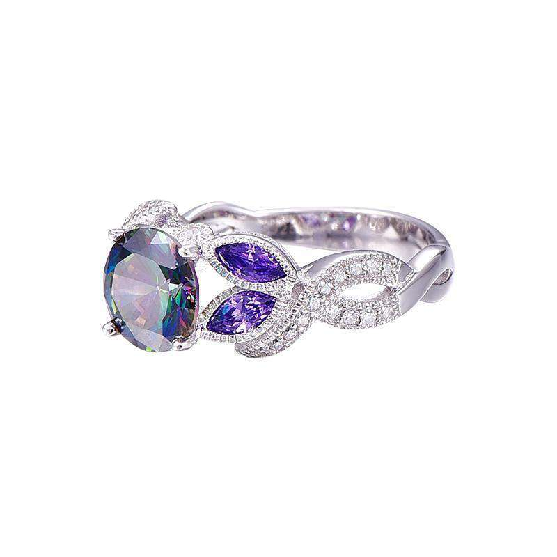 Rings Sapphire Engagement Rings With Clear For Women