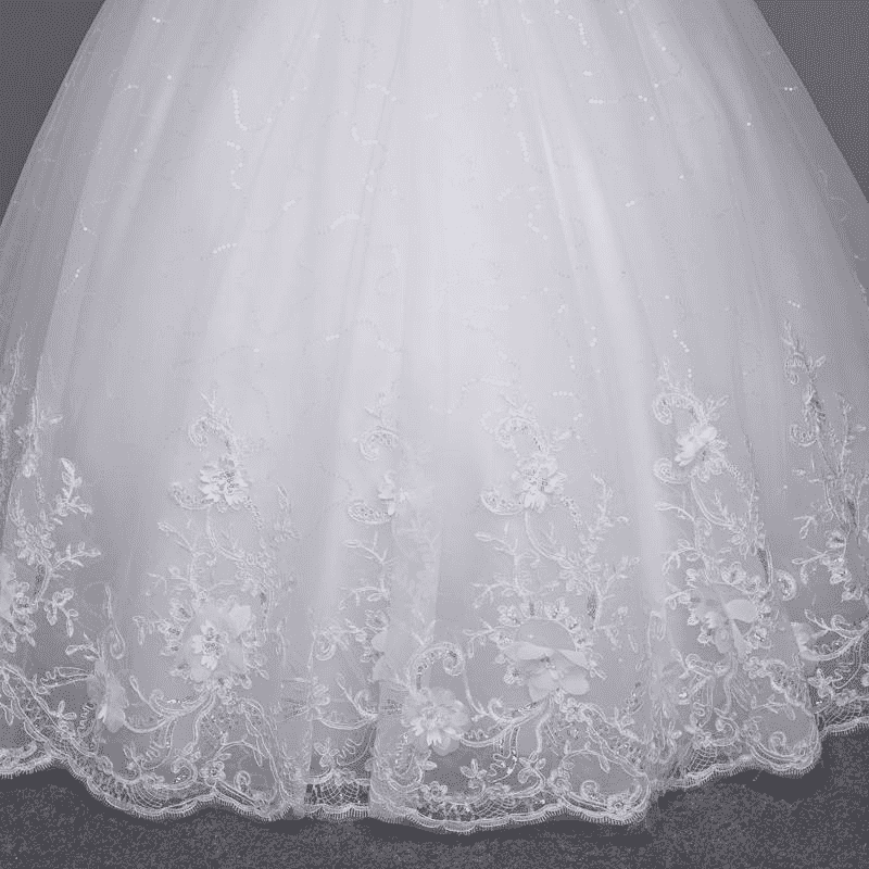 Sexy See Through Lace Up Wedding Dress Wedding Dresses