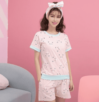 Short Pants + Short Sleeve Tops Pajamas 7723 / M Sleep & Lounge