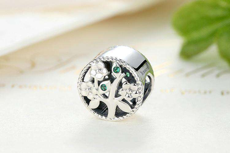 Silver Tree Of Life Bead Charms Fit Bracelets Women Beads & Jewelry