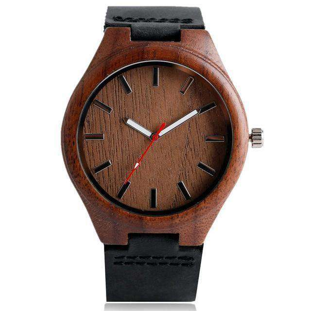 Simple Casual Wooden Watch Natural Bamboo Handmade