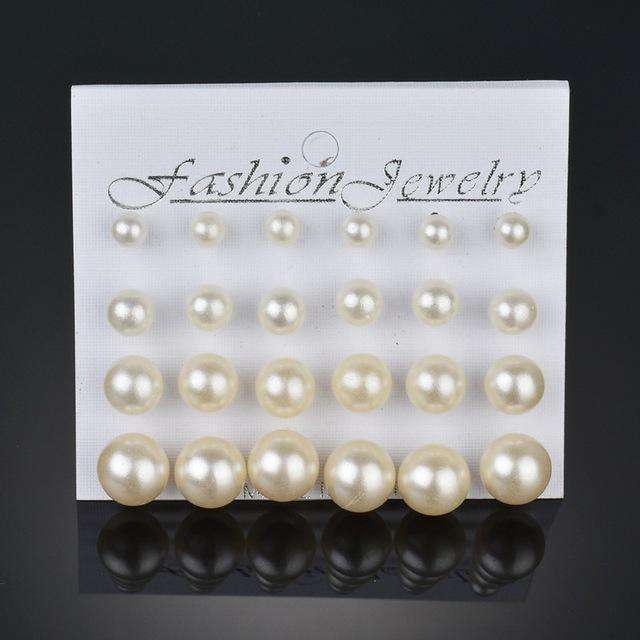 Simulated Pearl Earrings For Women Jewelry