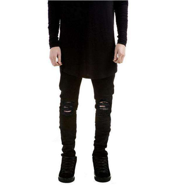 Skinny Black Ripped Jeans M.jeans