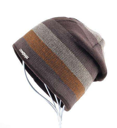 Skullies Knitted Wool Beanies Brown Beanies