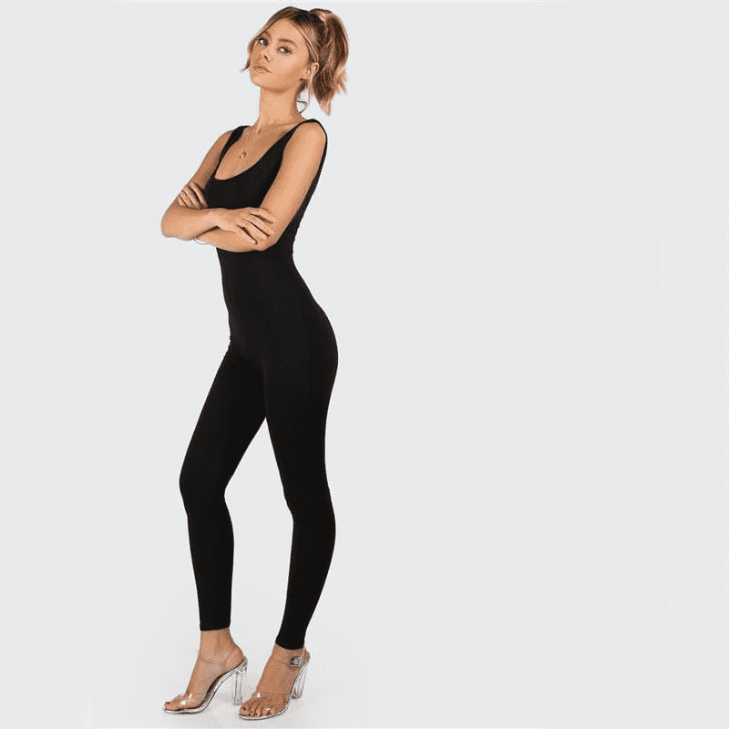 Sleeveless Brief Slim Basic Tank Jumpsuits Jumpsuits
