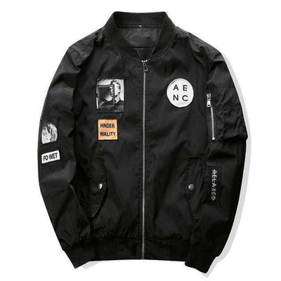 Slim Fit Pilot Bomber Jacket Black / M Jackets