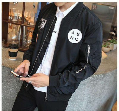 Slim Fit Pilot Bomber Jacket Jackets