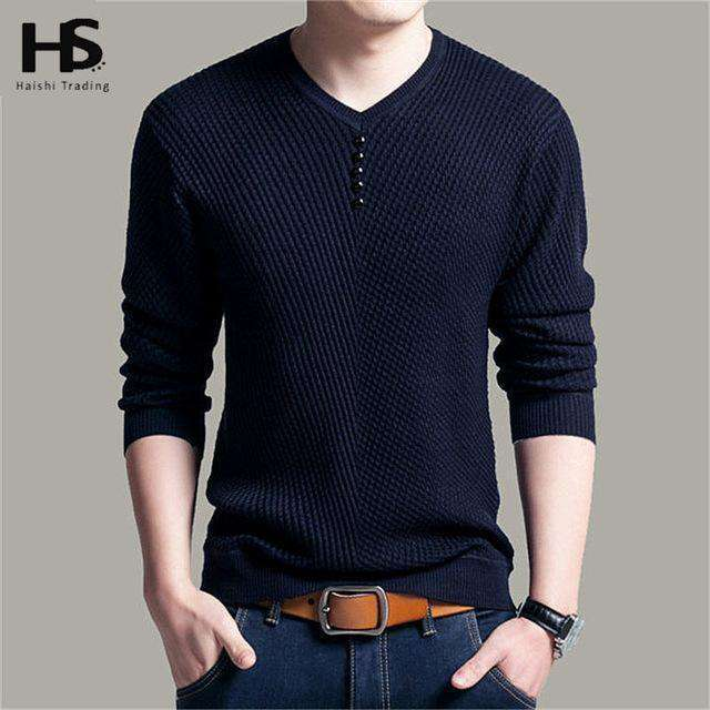 Solid Color V-Neck Long Sleeve Knitwear Pullover Khaki / S M.sweaters