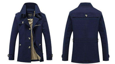 Solid Slim Fit Cotton Casual Jacket M.trench