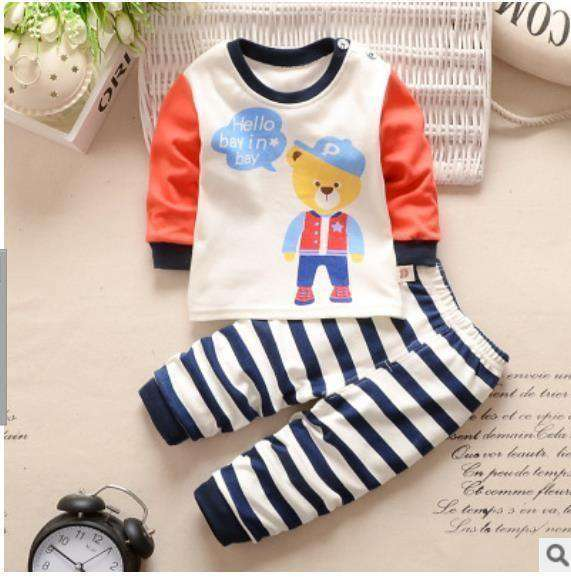 Spring Toddler Boy Clothing Set Long Sleeve Top+Pants