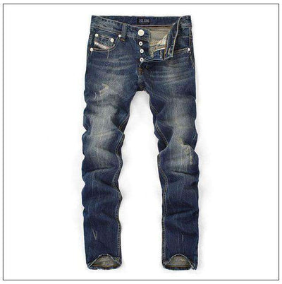 Straight Dark Blue Color Printed Jeans Blue / 29 M.jeans