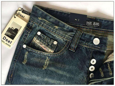 Straight Dark Blue Color Printed Jeans M.jeans