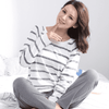 Striped 100% Cotton Long Sleeve Sleepwear Sleep & Lounge