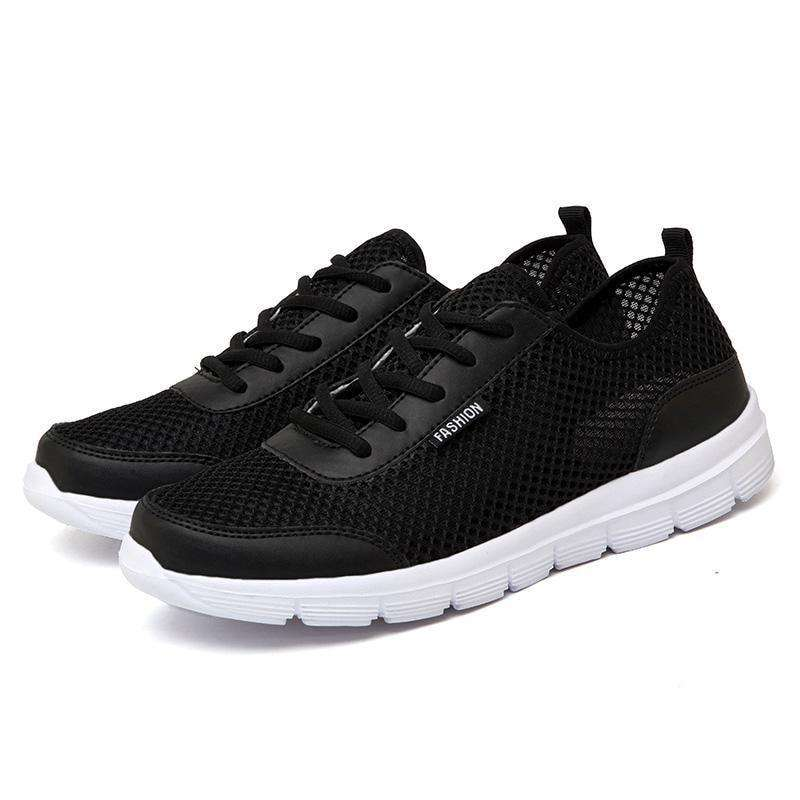Summer Sneakers Breathable Casual Shoes Fashion Comfortable Black / 4.5