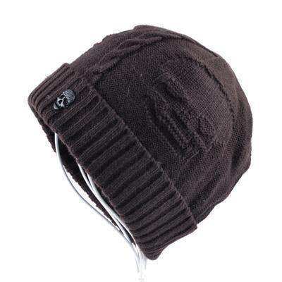 Super Cool Skull Pattern Hats Brown Beanies
