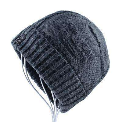 Super Cool Skull Pattern Hats Gray Beanies