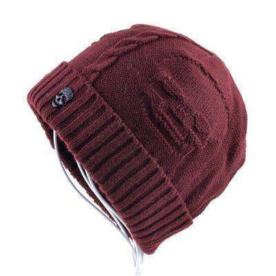 Super Cool Skull Pattern Hats Red Beanies