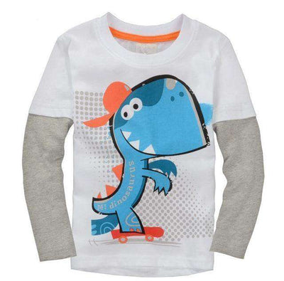 T-Shirt Boy Long Sleeve 100% Cotton Same As Photo 13 / 18M