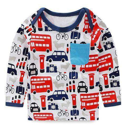 T-Shirt Boy Long Sleeve 100% Cotton Same As Photo 7 / 18M