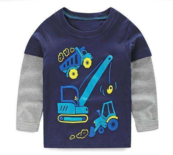 T-Shirt Boy Long Sleeve 100% Cotton Same As Photo 12 / 18M