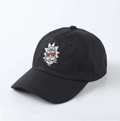 The New Us Animation Rick Caps Black Baseball Caps