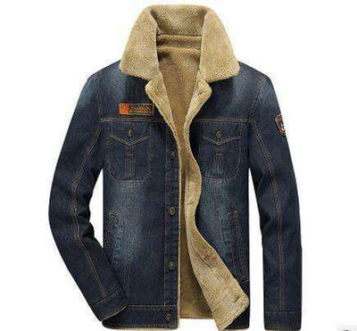Thick Warm Jeans Jacket 8659 Deep Blue / M / Russian Federation Jackets