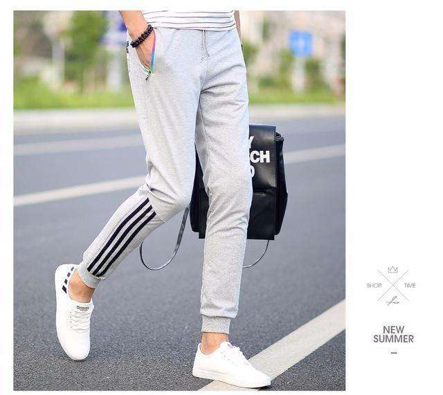 Thick Warm Long Casual Straight Pants Darkblue / S Sweatpants