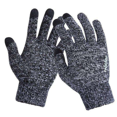 Thicken Warm Wool Cashmere Gloves Blackwhite / Men Gloves