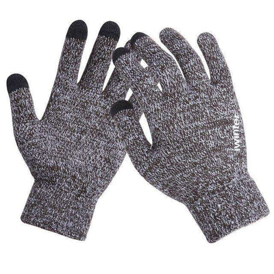 Thicken Warm Wool Cashmere Gloves Coffewhite / Men Gloves
