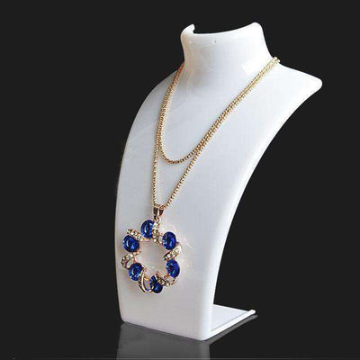 Three Colors 20*13.5*7.3Cm Mannequin Necklace White