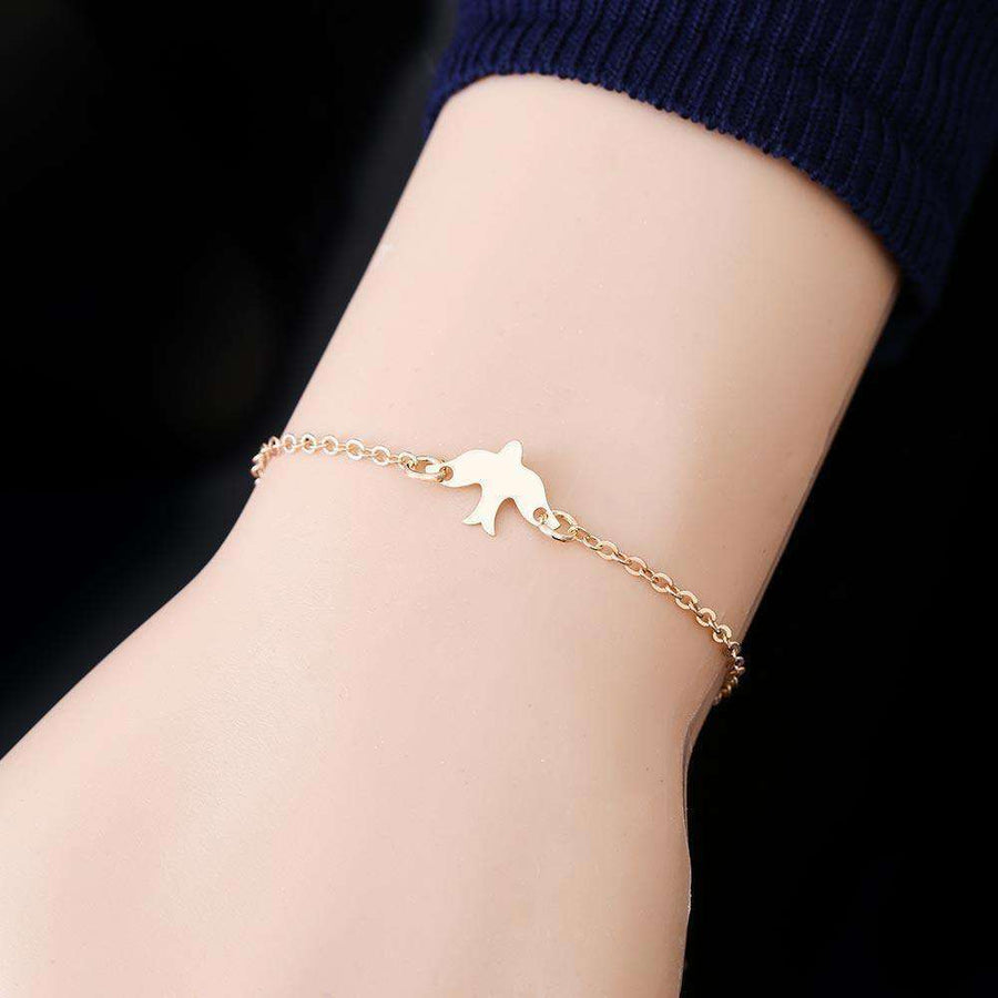 Tiny Peace Dove Bracelet Soar Flying Birds Bracelet