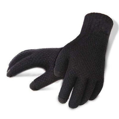 Touch Screen High Quality Male Thicken Warm Gloves Blacknologo / One Size Gloves