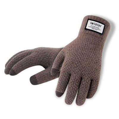 Touch Screen High Quality Male Thicken Warm Gloves Coffee / One Size Gloves