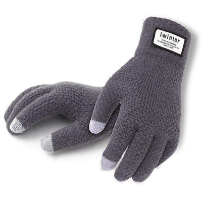 Touch Screen High Quality Male Thicken Warm Gloves Gray / One Size Gloves