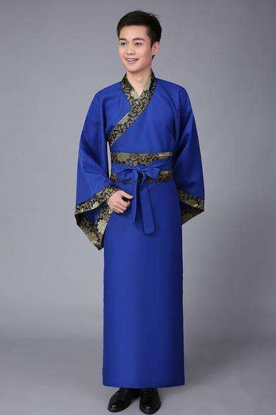 Traditional China Tang Suit Blue / S Dance Wear