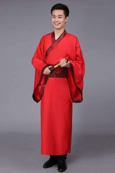Traditional China Tang Suit Red Red 1 / S Dance Wear