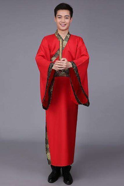 Traditional China Tang Suit Red Yellow 2 / S Dance Wear