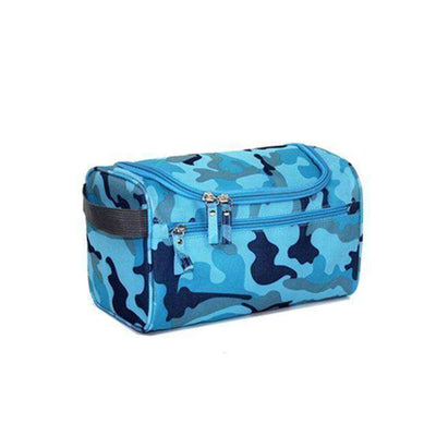 Travel Cosmetic Organizer Bag Waterproof Wash Bag Blue Camouflage