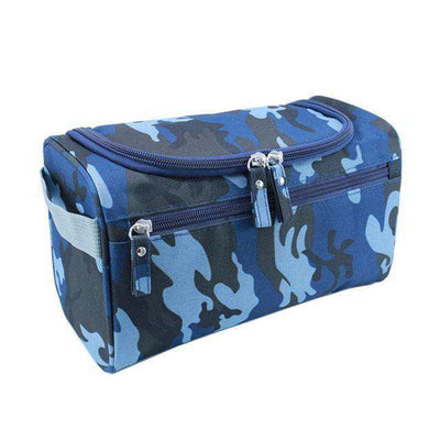 Travel Cosmetic Organizer Bag Waterproof Wash Bag Camouflage Blue