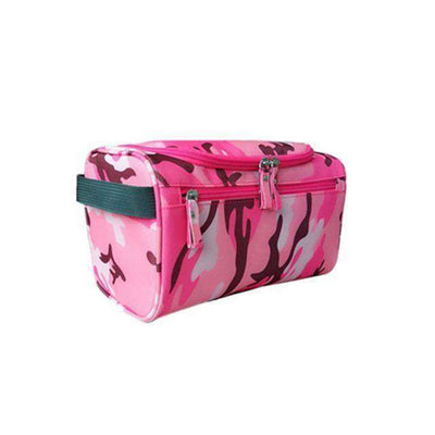 Travel Cosmetic Organizer Bag Waterproof Wash Bag Camouflage Rose Red