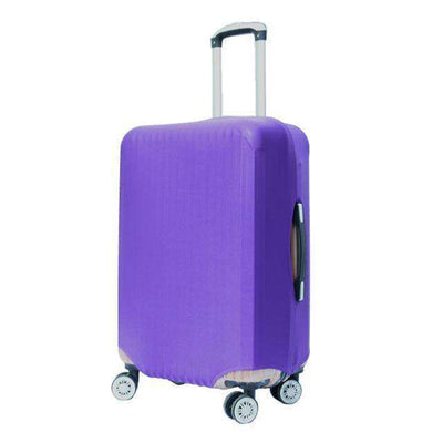 Travel Suitcase Dust Cover Shell Elasticity Stretch Trolley Case Purple / S