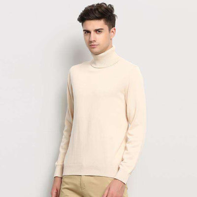 Turtleneck Slim Fit Winter Pullover Apricot / M M.sweaters