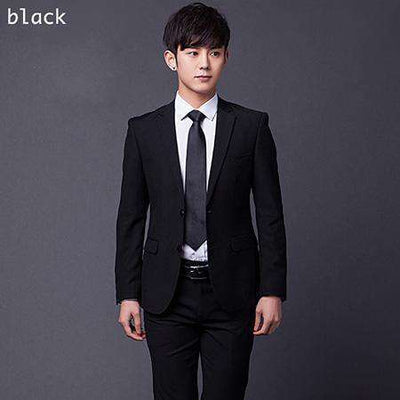 Two Buttons Slim Fit Work Suits Black / Xs Suits