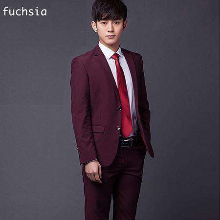 Two Buttons Slim Fit Work Suits Dark Grey / Xs Suits