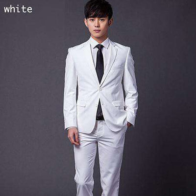 Two Buttons Slim Fit Work Suits White / Xs Suits