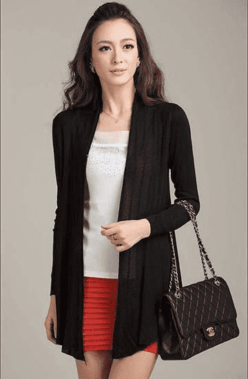 Unique Fashion Cardigan Sweater Black / L W.sweaters