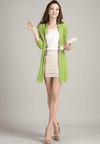 Unique Fashion Cardigan Sweater Green / L W.sweaters