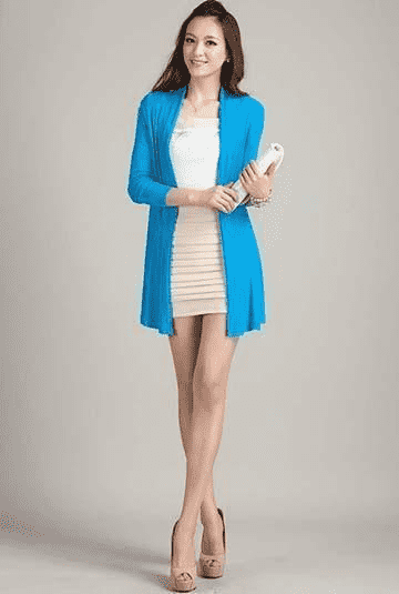 Unique Fashion Cardigan Sweater Light Blue / L W.sweaters